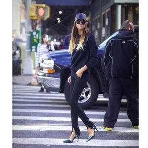 J Brand Vera Waxed Black Split Hem Skinny Jean 29